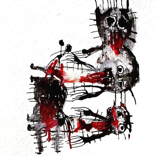 Psychiatrie, Artbrut, Outsider art, Malerei, Durchbohren