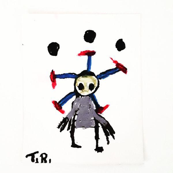 Kuckucksnest, Artbrut, Psychiatrie, Outsider art, Malerei, Strahlen