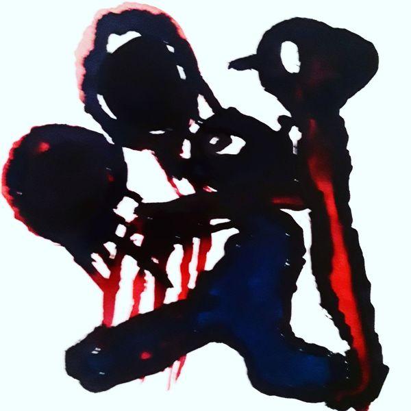 Tod, Außenseiter, Hände, Malerei