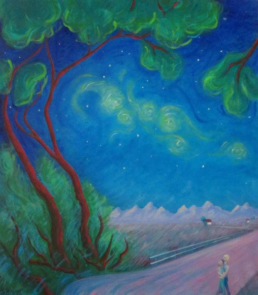 Malerei, Paar, Universum