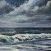 Welle, Brandung, Wolken, Wasser