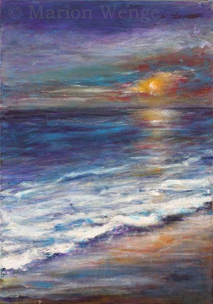 See, Wasser, Stimmung, Sonnenuntergang, Küste, Brandung