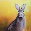 Pastellmalerei, Realismus, Gegenständlich, Hase