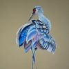 Pastellmalerei, Tierzeichnung, Kranich, Natur