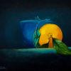 Orange, Ölmalerei, Malerei, Stillleben