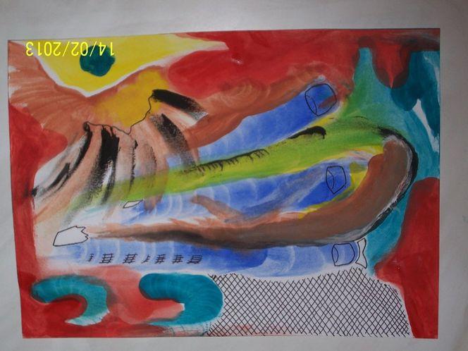 Intuition, Aquarellmalerei, Aquarell, Abstrakt, Illusion