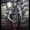 Böse, Surreal, Bleistiftzeichnung, Zeichnen