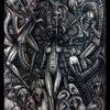 Malerei, Böse, Surreal, Bleistiftzeichnung