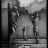 Surreal, Zeichnen, Verfolgung, Bleistiftzeichnung
