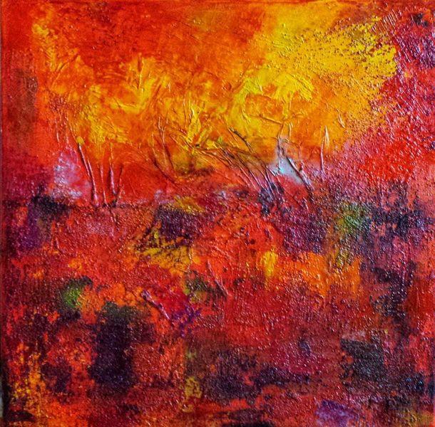 Lava, Sand, Expressionismus, Waldbrand, Vulkan, Rotschichten