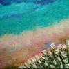 Blüte, Wasser, Landschaft, Spachteltechnik