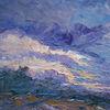 Wolken, Abend, Licht, Landschaft