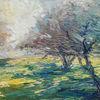 Süden, Sonne, Baum, Ölmalerei