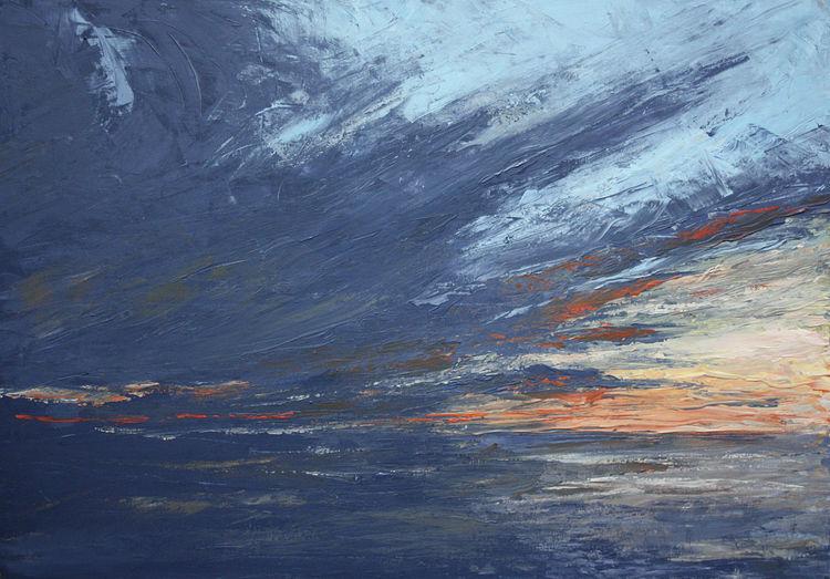 Licht, Himmel, Abend, Meer, Wasser, Wolken