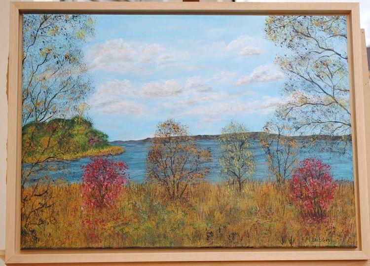 Herbst, Scharmützelsee, Malerei