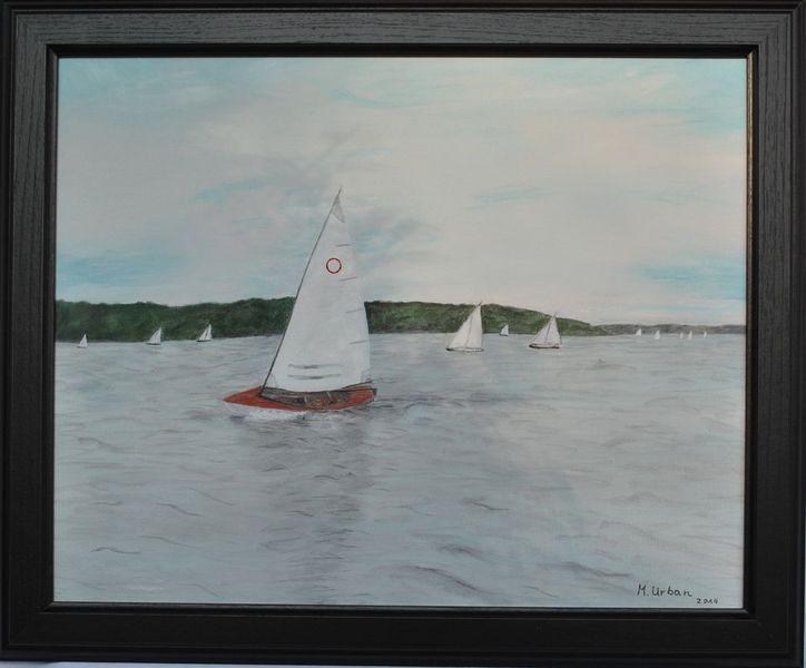 Segelboot, Wasser, Regatta, Malerei, 2014