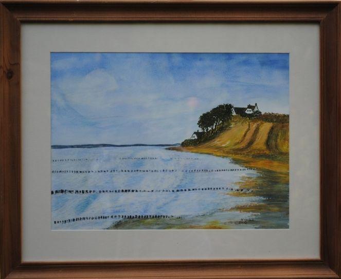 Natur, Strand, Landschaft, Meer, Steilküste, Malerei