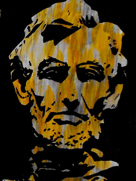 Acrylmalerei, Malerei, Lincoln, Portrait