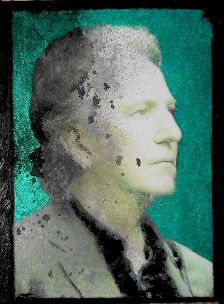 Alan rickman, Acrylmalerei, Malerei, Portrait