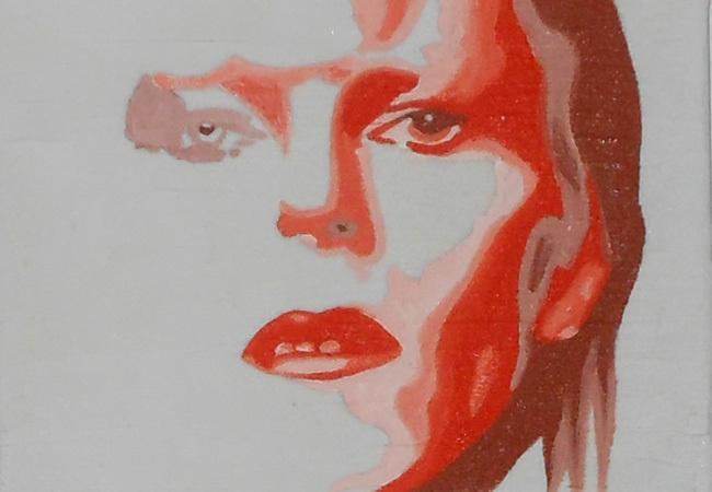 Acrylmalerei, David bowie, Malerei, Portrait