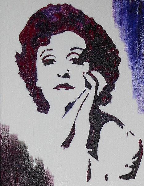 Acrylmalerei, Zarah leander, Malerei, Schweden, Portrait