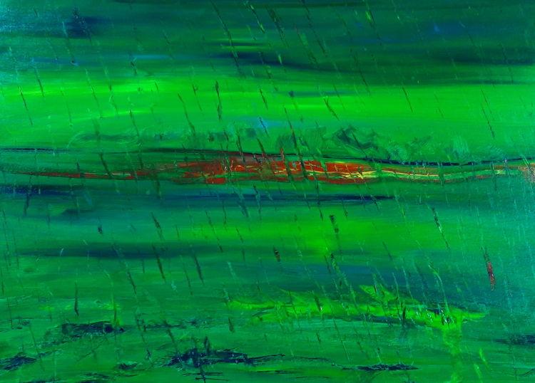 Grün, Abstrakt, Ölmalerei, Malerei, Hoffnung