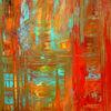 Abstrakt, Acrylmalerei, Expressionismus, Rot