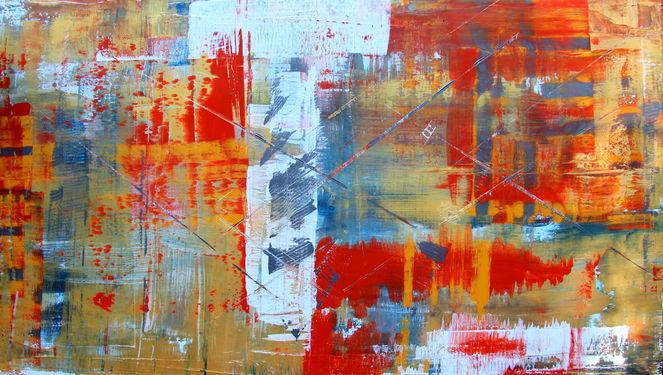 Abstrakt, Sommer, Spachteltechnik, Fantasie, Malerei