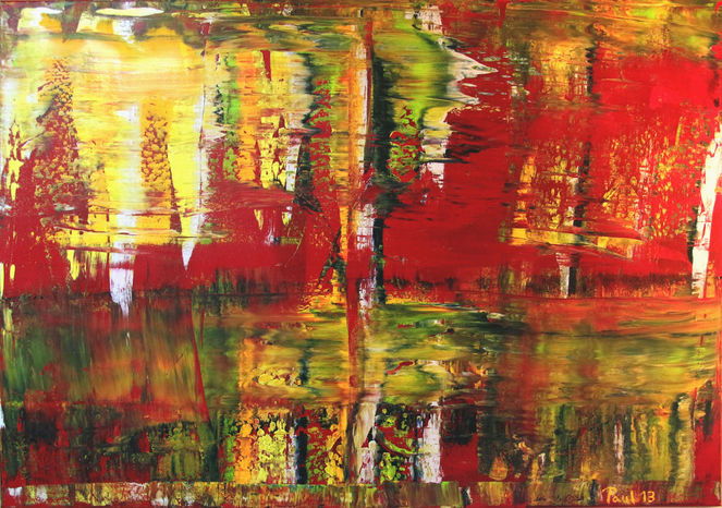 Energie, Bunt, Wind, Malerei, Abstrakt