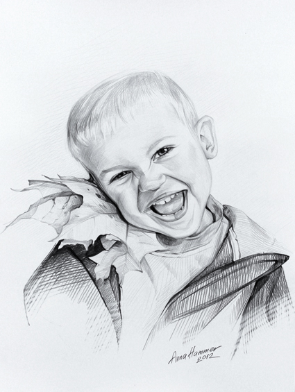 Kinder, Menschen, Portrait, Zeichnungen, Wald