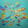 Tiere, Gemeinschaft, Fisch, Gruppe