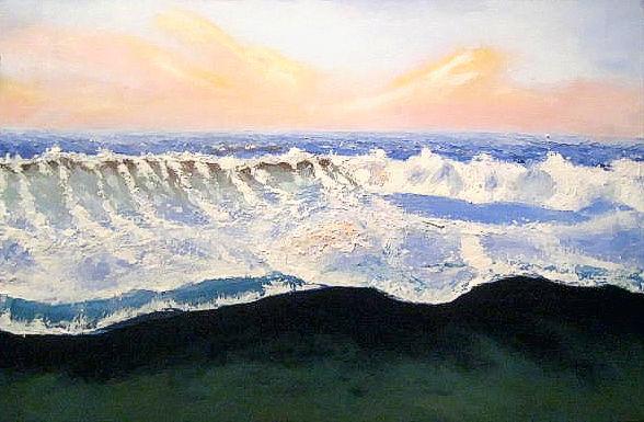 Strand, Himmel, Welle, Wellenreiten, Bunt, Meer