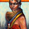 Frau, Schmuck, Die rendille, Afrika