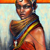 Die rendille, Afrika, Acrylmalerei, 3d