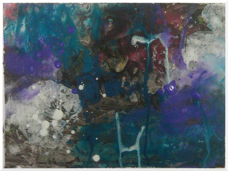 Zeichnen, Acrylmalerei, Lila, Klecksen, Bunt, Stern