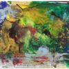 Urwald, Bunt, Fließen, Acrylmalerei