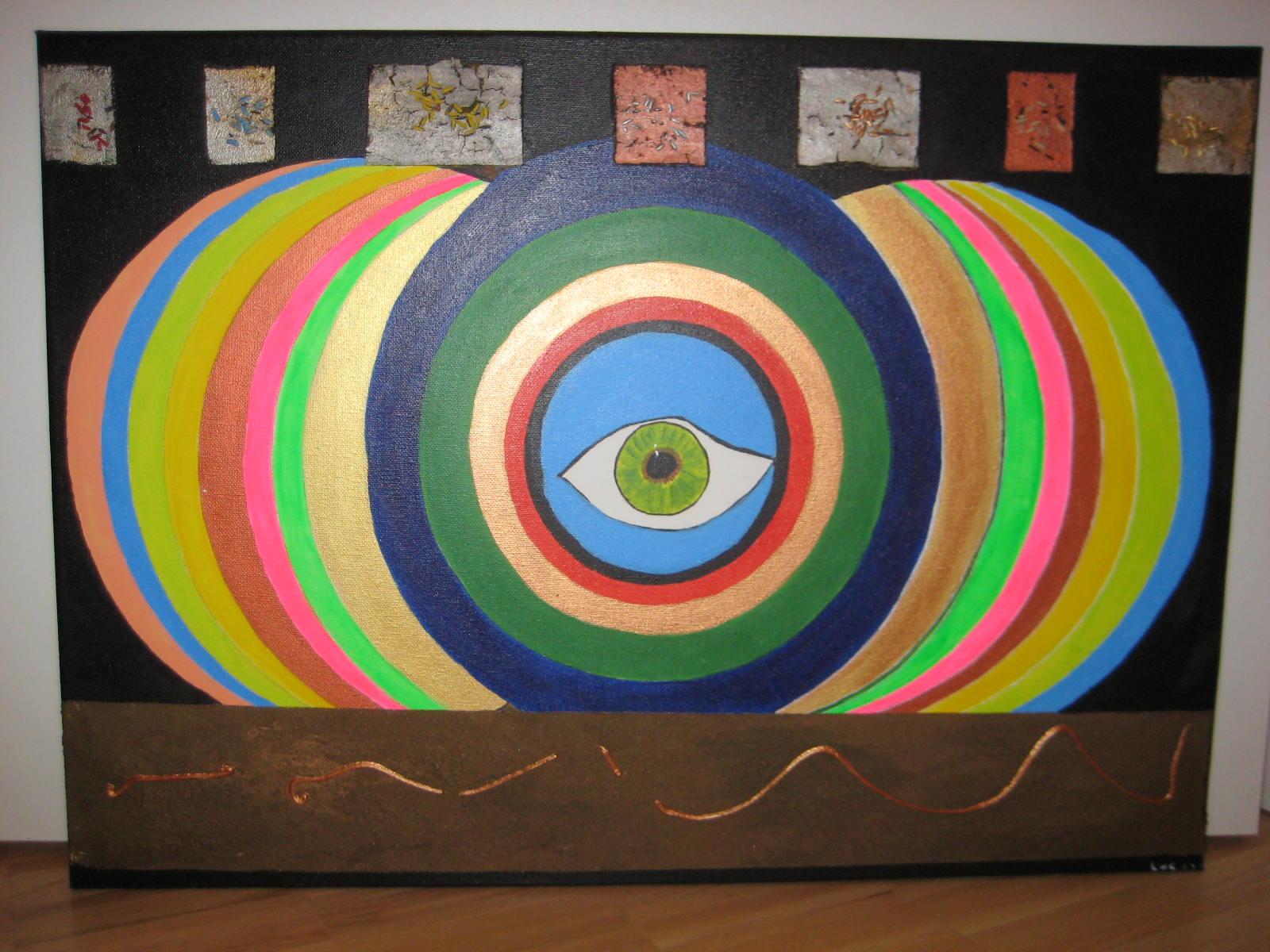 bild auge psychedelisch essen malerei menschen von maria bei kunstnet. Black Bedroom Furniture Sets. Home Design Ideas