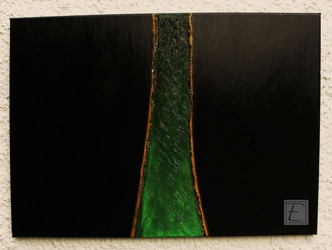 Acrylmalerei, The green mile, Malerei, Abstrakt,