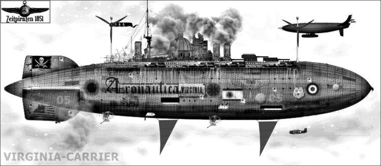 Digital, Acrylmalerei, Zeit, Luftschiff, Zeppelin, Buch