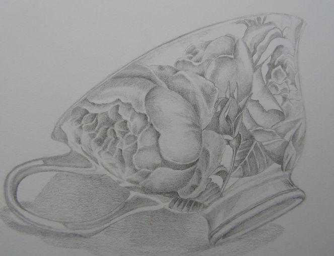 Zeichnung, Tasse