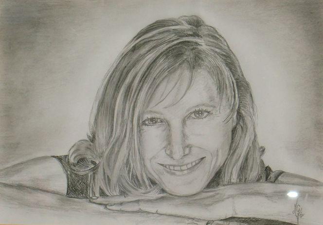 Frau, Bleistiftzeichnung, Portrait, Malerei