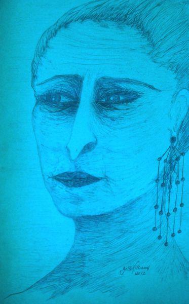 Roma, Frau, Zeichnungen