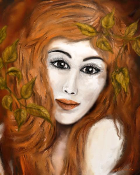 Frau, Fantasie, Digitale kunst, Surreal