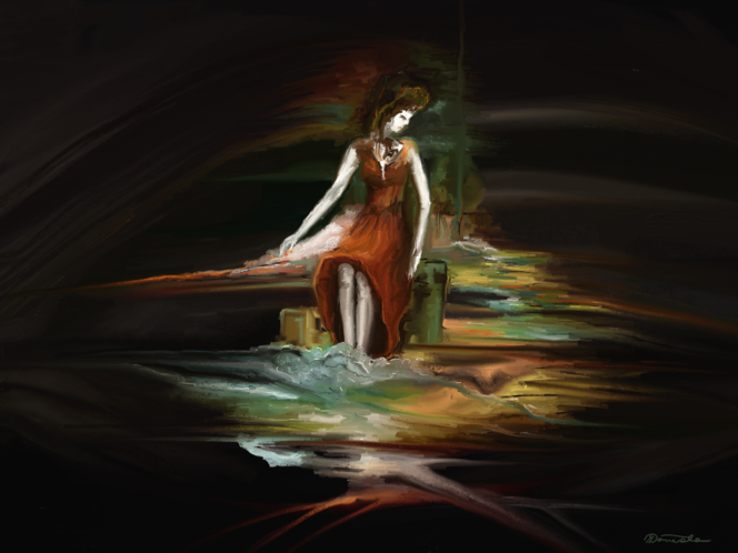 Zeit, Dunkel, Fantasie, Malerei, Surreal
