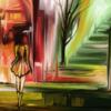 Fantasie, Zeichnung, Spaziergang, Surreal