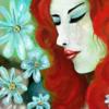 Blumen, Fantasie, Ausdruck, Frau