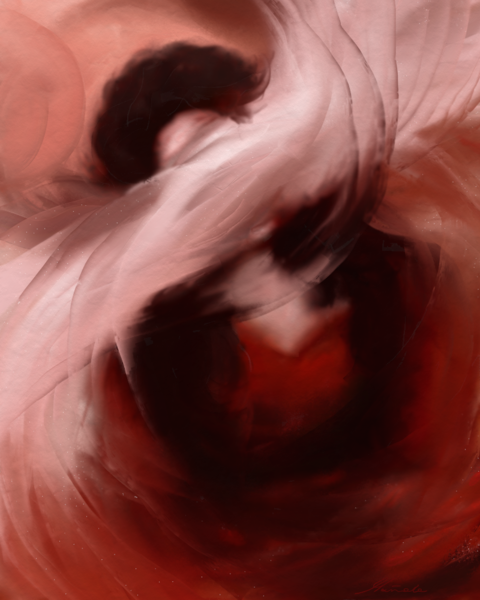 Frei, Fantasie, Rot, Traum, Frau, Digitale kunst