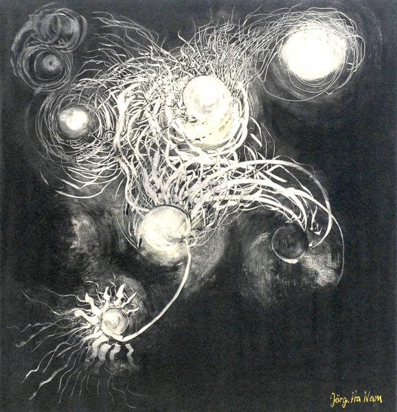 Netzwerke, Realismus, Zeitgenössisch, Zeitgenössische kunst, Ökogemälde, Ökomaler