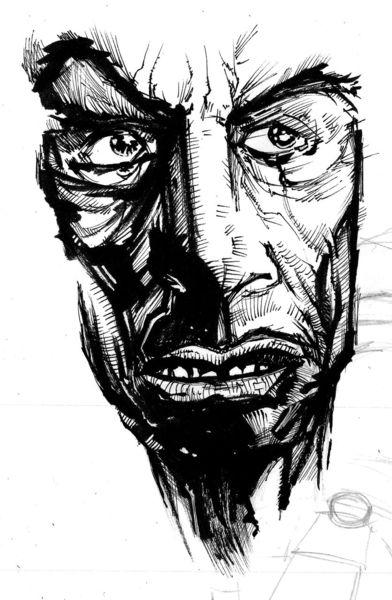 Comic, Zeichnungen, Gesicht