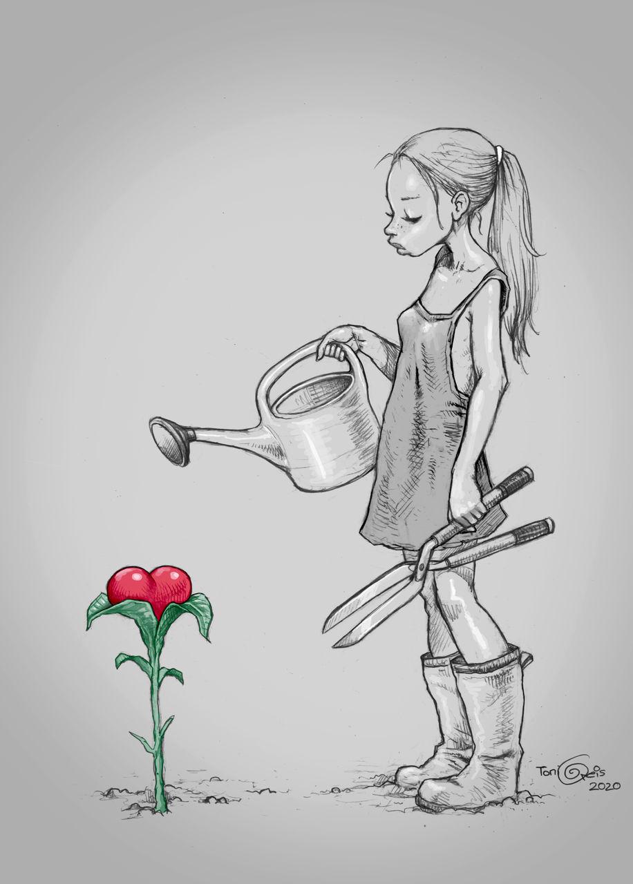 Bild - Zeichnung, Bleistiftzeichnung, Liebe, Zeichnungen